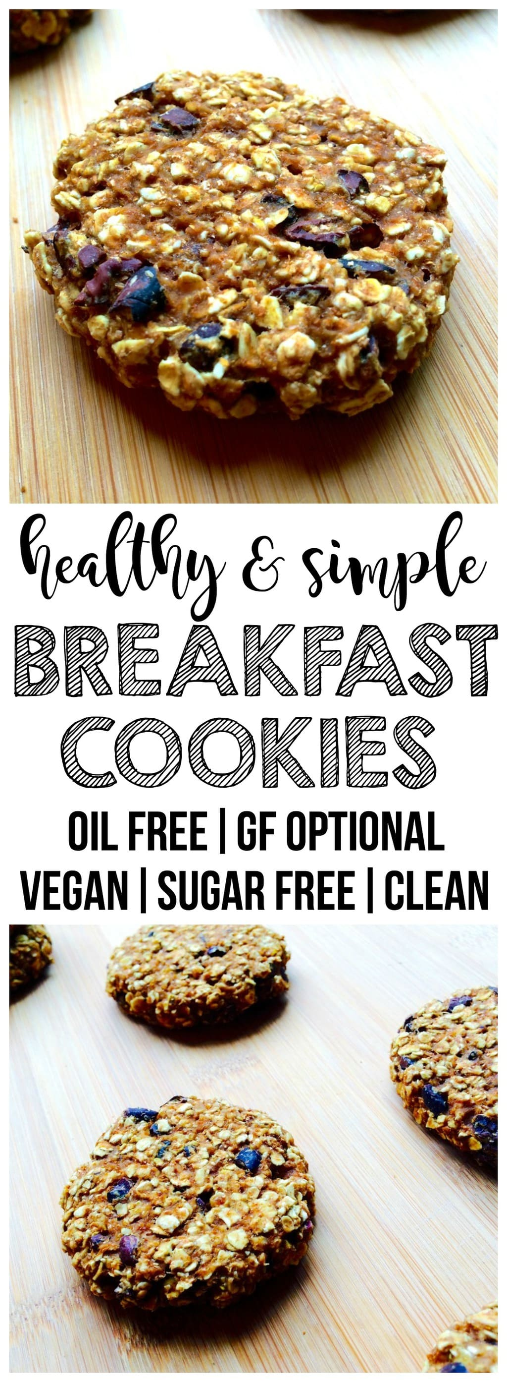 These cookies are so healthy that you can eat them for breakfast!! Made with delicious, wholesome ingredients and packed with fiber to keep you full all morning long. Vegan, sugar-free, low-carb, low-fat, dairy-free & oil-free, with a gluten-free option. Ready in 15 minutes!