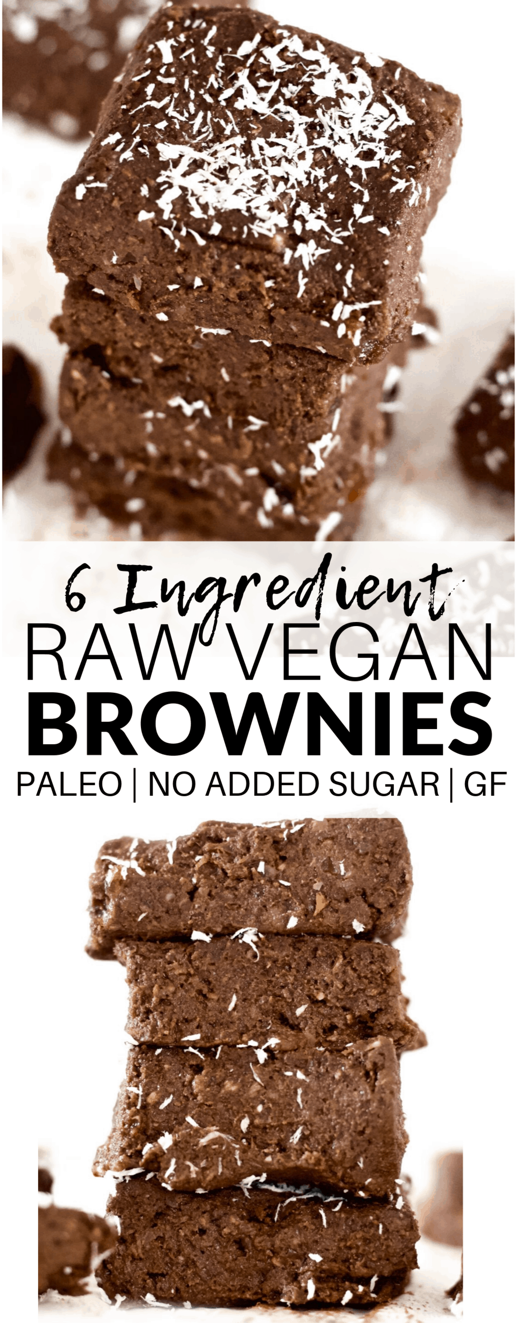These drool-worthy No-Bake Raw Vegan Brownies are sinfully delicious, yet packed with superfood nutrition! They're super easy to make and come together in a snap - only 6 ingredients! They are also gluten-free, paleo, oil-free, and sugar-free.