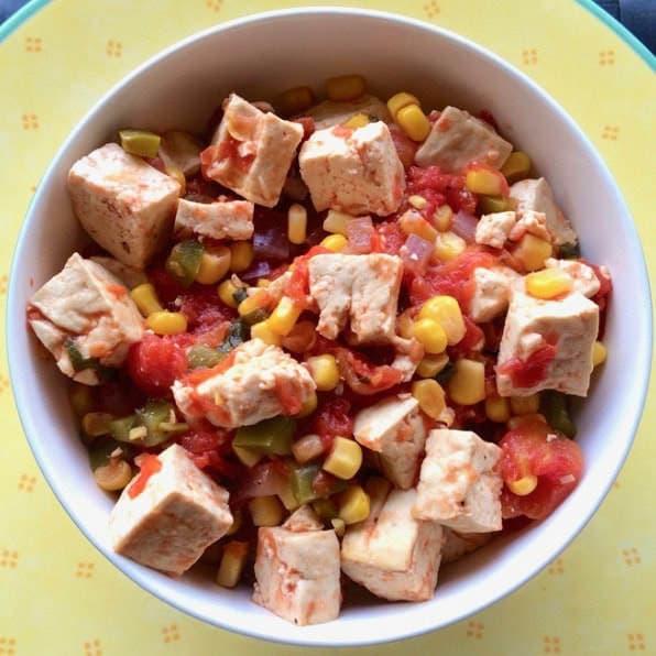 Healthy & Simple Southwest Tofu Bowl (Vegan, Gluten-Free, Oil-Free, High-Protein)