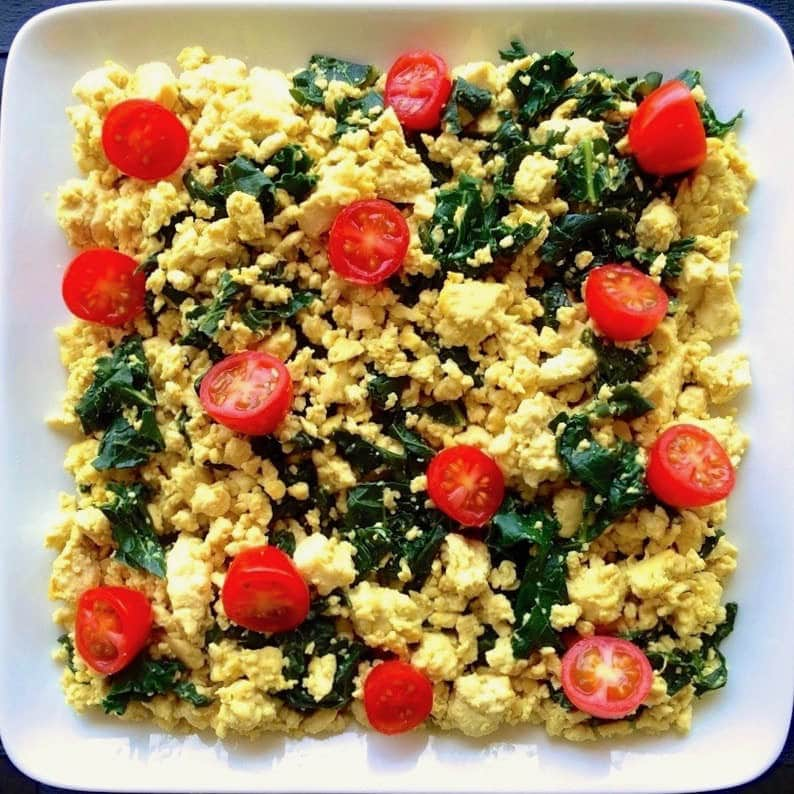 Easy Tofu Scramble (Vegan, Gluten-Free, Oil-Free)