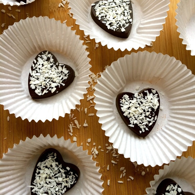 These super simple and healthy Keto Vegan Chocolates are so rich and delicious! They are the perfect treat to satisfy your chocolate cravings. Glluten-free, paleo, dairy-free, low-carb, sugar-free & low-calorie - only 57 calories each!