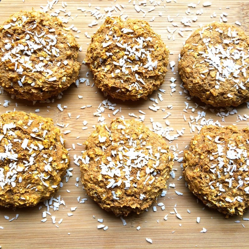 Healthy Pumpkin Spice Cookies that are only 57 calories each! Vegan, oil-free, sugar-free, and gluten-free optional.
