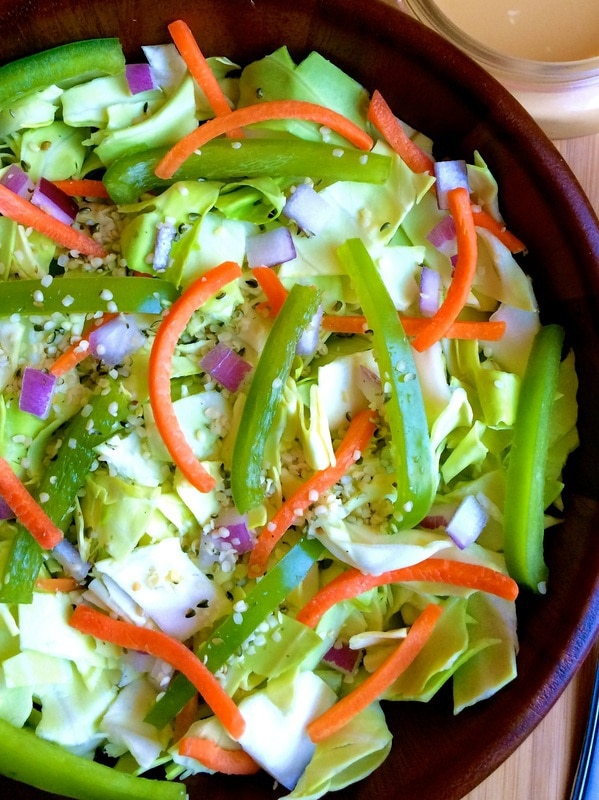 Thai cabbage salad, easy vegan cabbage salad, cabbage