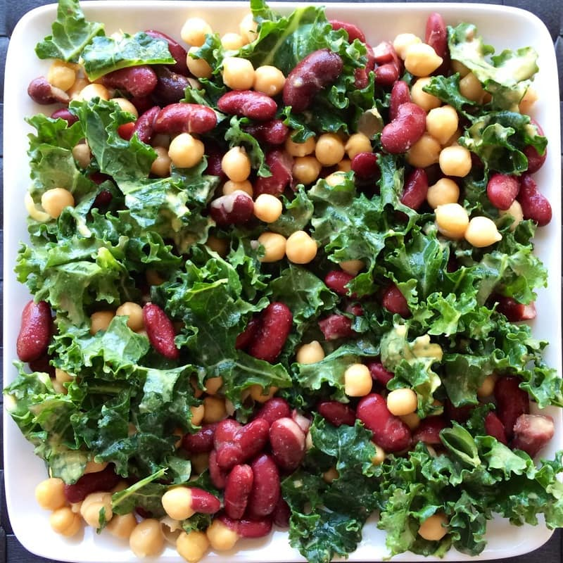 Quick two bean salad, two bean salad, easy bean salad, kidney and garbanzo bean salad, easy bean salad recipe, two bean salad recipe, kidney and garbanzo bean recipe, vegan bean salad, vegan two bean salad, healthy two bean salad