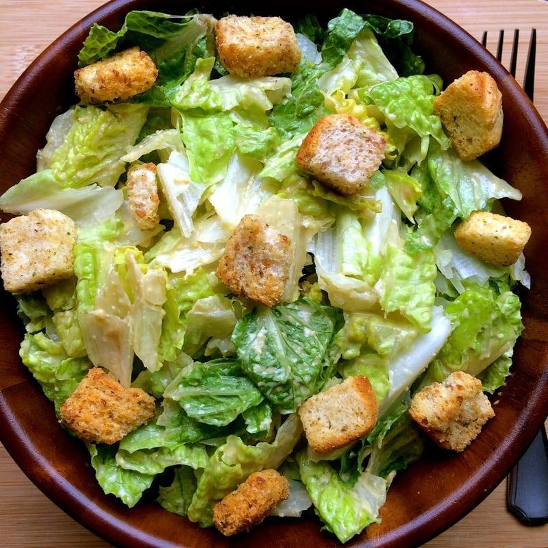 The BEST & easiest Vegan Caesar Salad (Gluten-Free & Oil-Free)