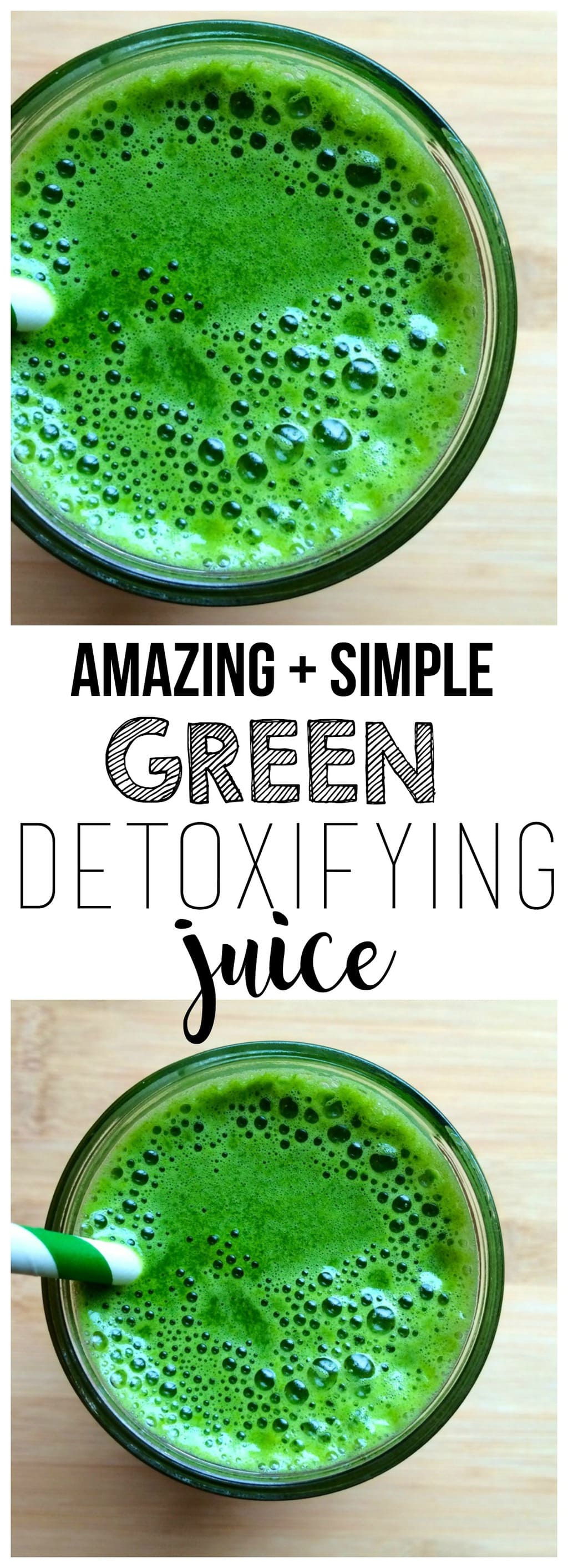 This Green Detoxifying Juice is absolutely AMAZING! It will cleanse you from within and is loaded with nutrition. The perfect way to reset and get back on track.