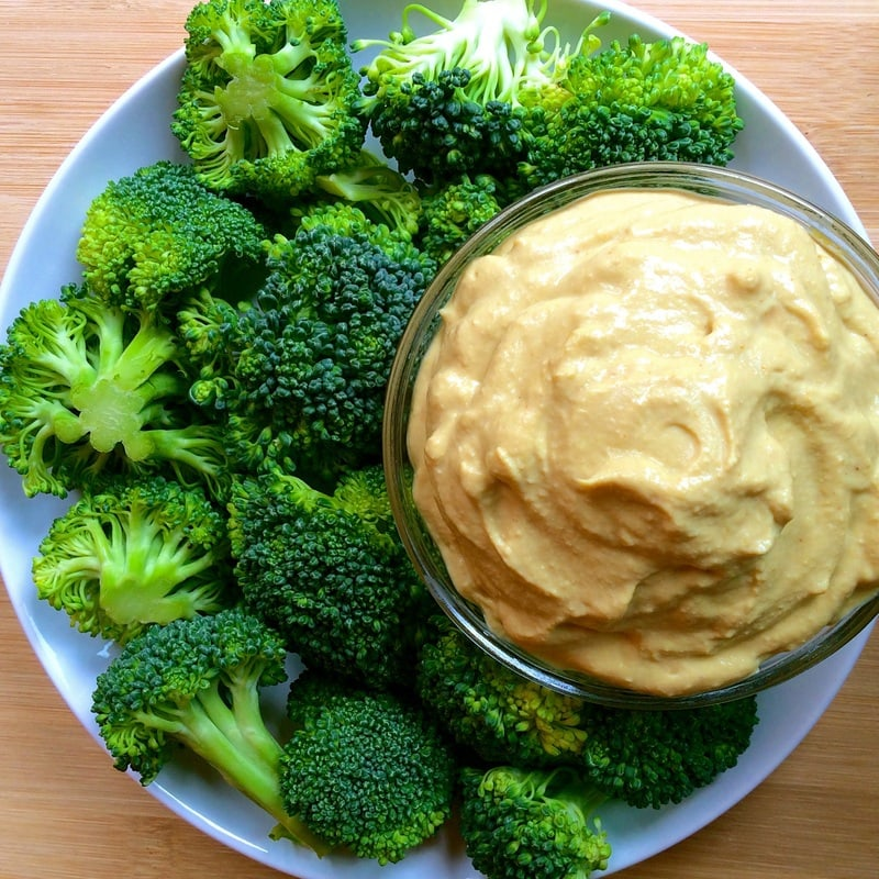 Low Fat Vegan Cheese Dip (Keto, Low-Carb, Nut-Free, Gluten-Free, High-Protein, Oil-Free)