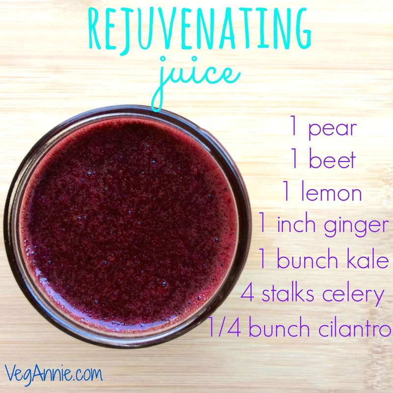 pear-beet-lemon-ginger-kale-cilantro-celery-ginger juice, how to make juice