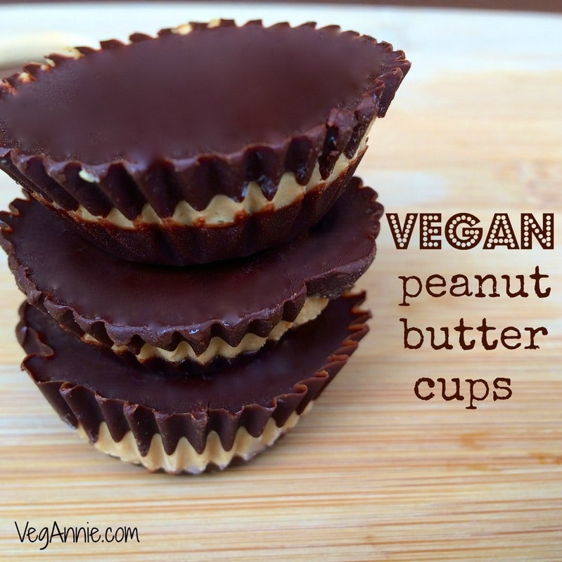 vegan Reese's peanut butter cups, vegan peanut butter cups, vegetarian peanut butter cups, homemade peanut butter cups, healthy peanut butter cups