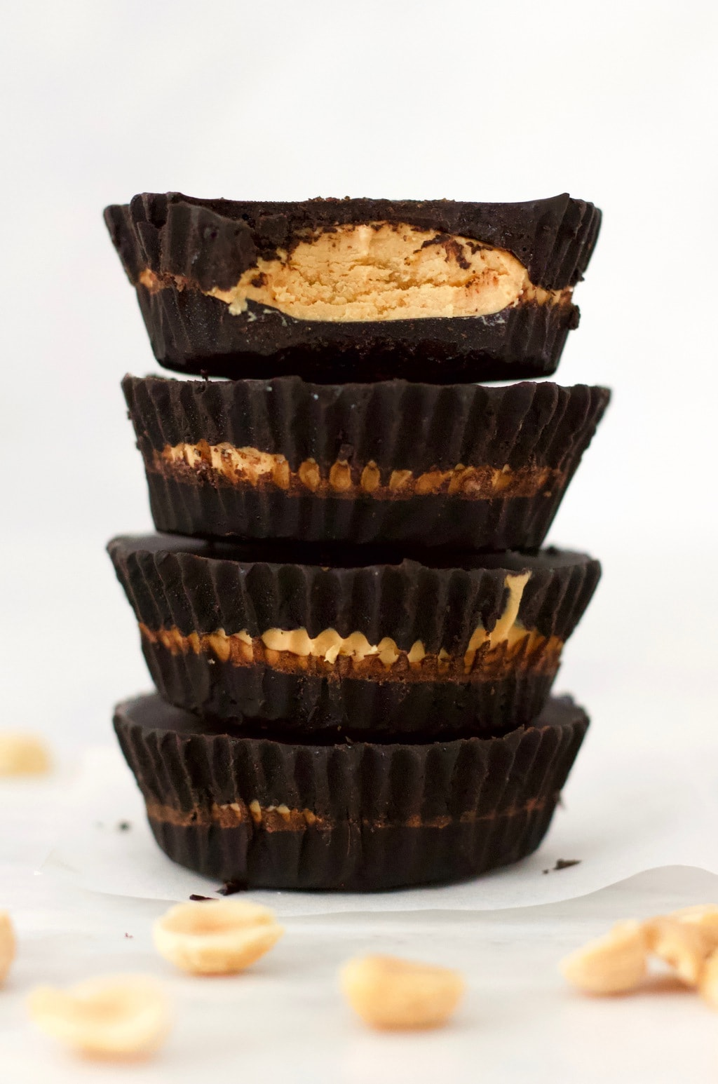 These, healthy Vegan Reese's Peanut Butter Cups are amazing! They taste JUST like the real thing! Keto, gluten-free, sugar-free, low-carb & dairy-free.