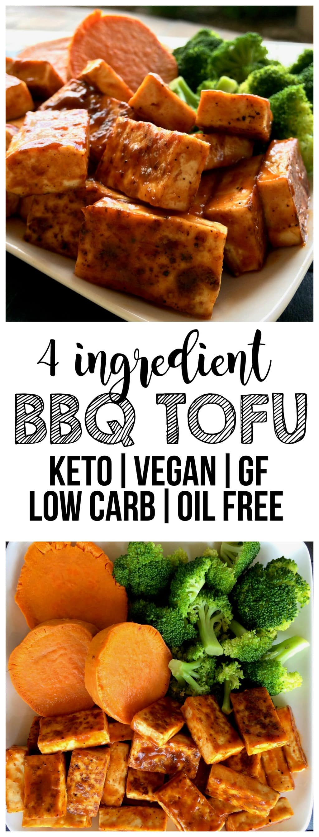 This Easy BBQ Tofu is totally delicious and so easy to make! It's vegan, gluten-free, dairy-free, keto, low-carb, oil-free, and high-protein. The perfect, vegan lunch or dinner!
