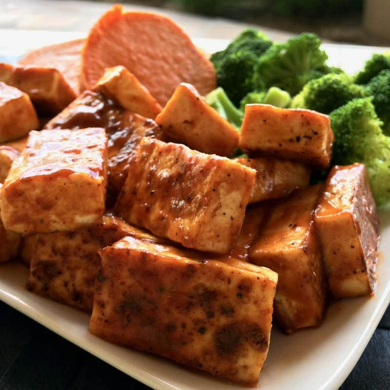 Healthy BBQ Tofu (Low-Carb, Gluten-Free, Vegan, Oil-Free)