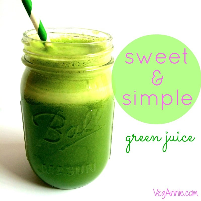 simple green juice, healthy green juice, easy green juice, kale-apple-lemon juice