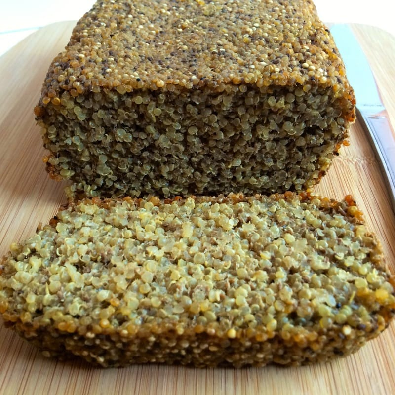 The super hearty & delicious Gluten-Free Chia Bread will be your new favorite breakfast or snack! It is loaded with nutrition and totally scrumptious. It's vegan, grain-free, egg-free, dairy-free and sugar-free. Perfect to top with some sliced avocado or nut butter.