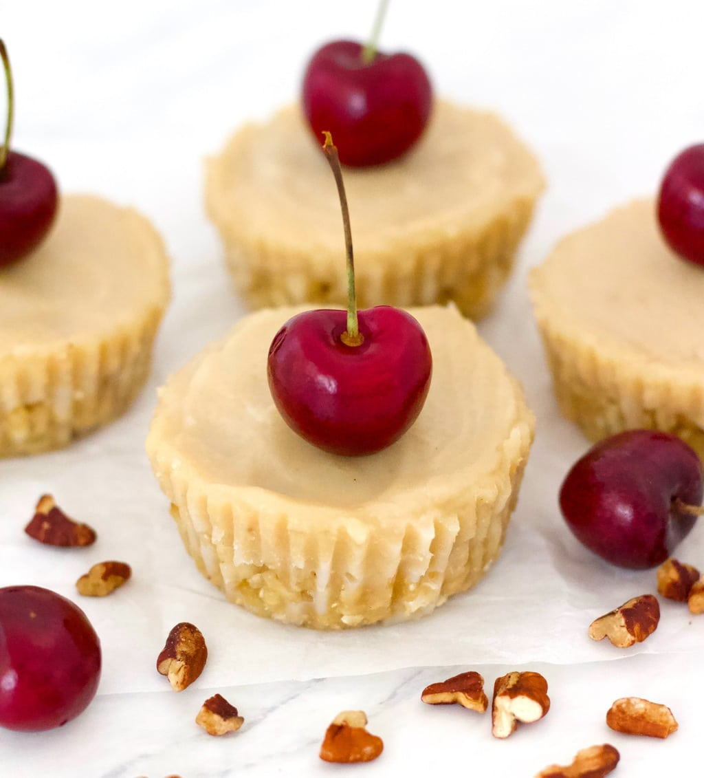 These super healthy, fully raw Vegan Cheesecake Bites are totally delicious! Decadent, rich, and just amazing. They're also paleo, gluten-free, low-carb, keto, & sugar-free!