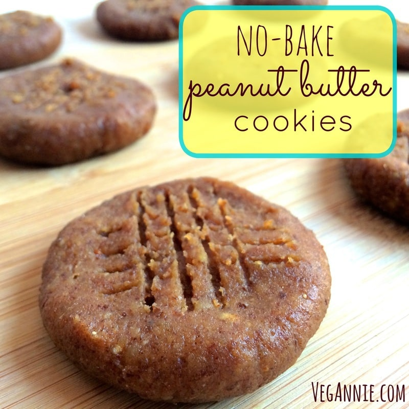 no-bake peanut butter cookies, vegan peanut butter cookies, raw vegan peanut butter cookies, healthy peanut butter cookies, vegetarian peanut butter cookies, gluten-free peanut butter cookies
