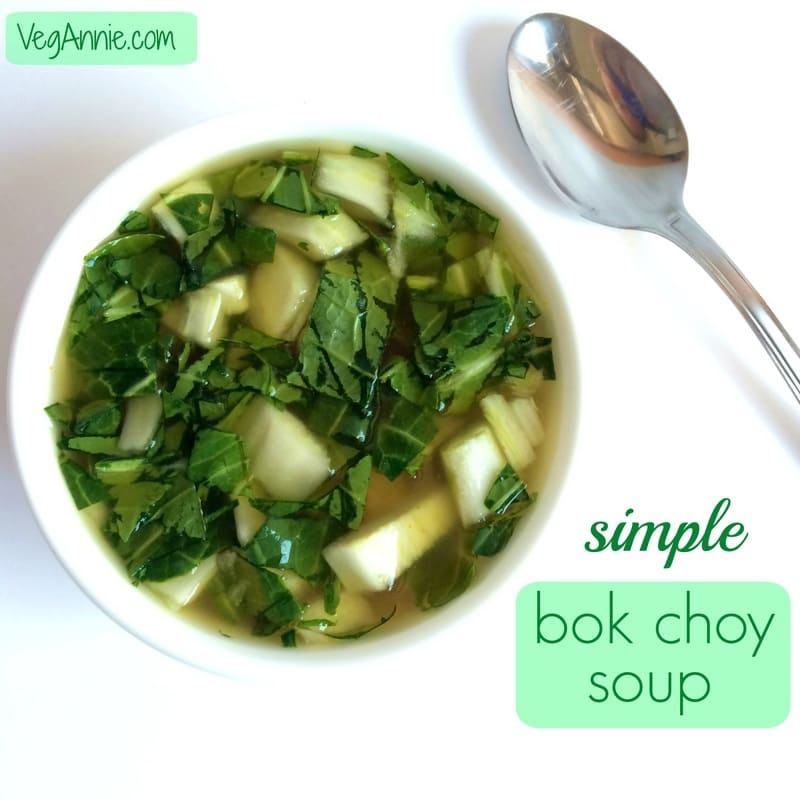 bok choy soup, simple bok choy soup, healthy bok choy soup, vegan bok choy soup, vegan soup recipe, gluten-free soup