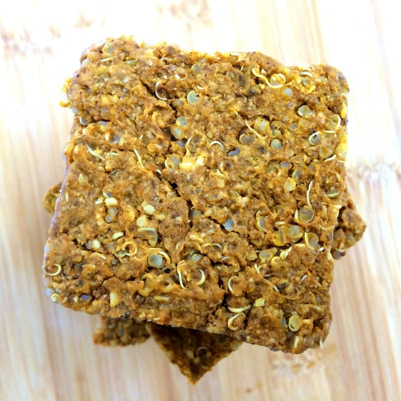 pumpkin quinoa breakfast bar, vegan breakfast bar, pumpkin breakfast bar, quinoa bar, gluten free breakfast bar