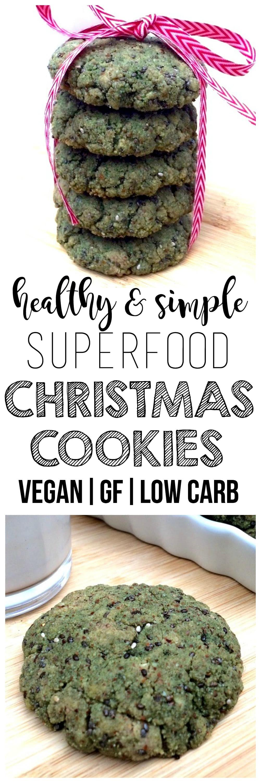 Superfood Christmas Cookies (Keto, Low-Carb, Vegan, Gluten-Free, Sugar-Free, Paleo)