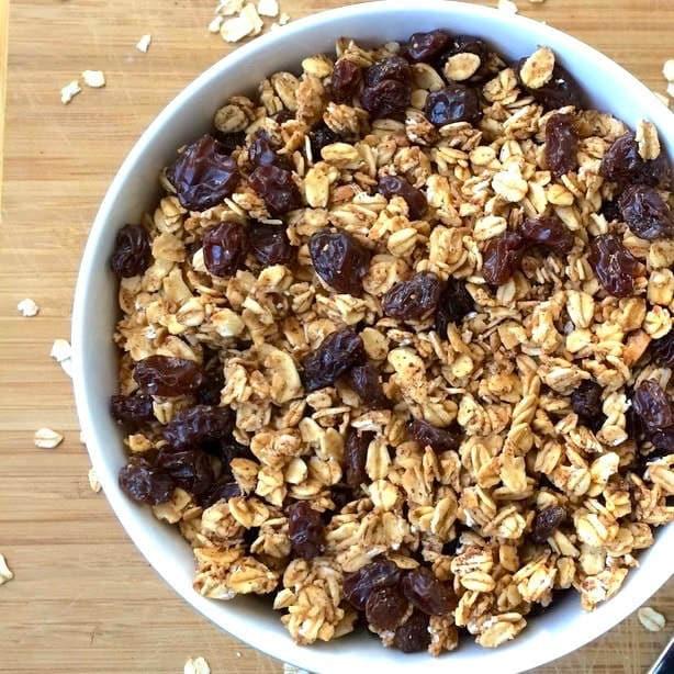 Low-Fat Granola (Gluten-Free, Vegan, Oil-Free, Sugar-Free)