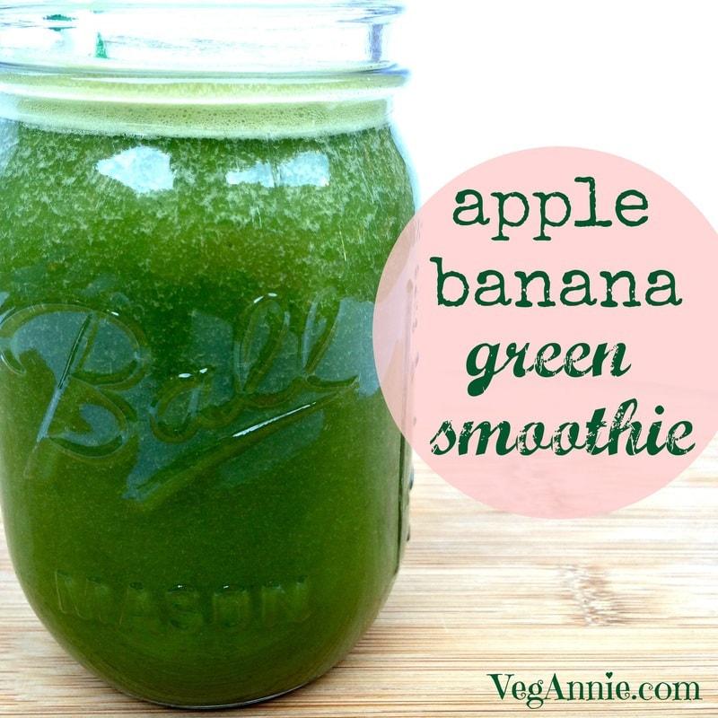 apple banana green smoothie, banana kale apple smoothie, green smoothie, gluten-free green smoothie