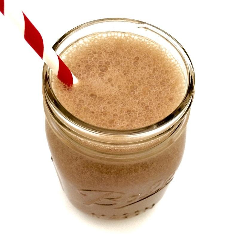 vegan protein shake, chocolate banana protein shake, vegan chocolate protein shake, gluten free protein shake, gluten-free chocolate protein shake