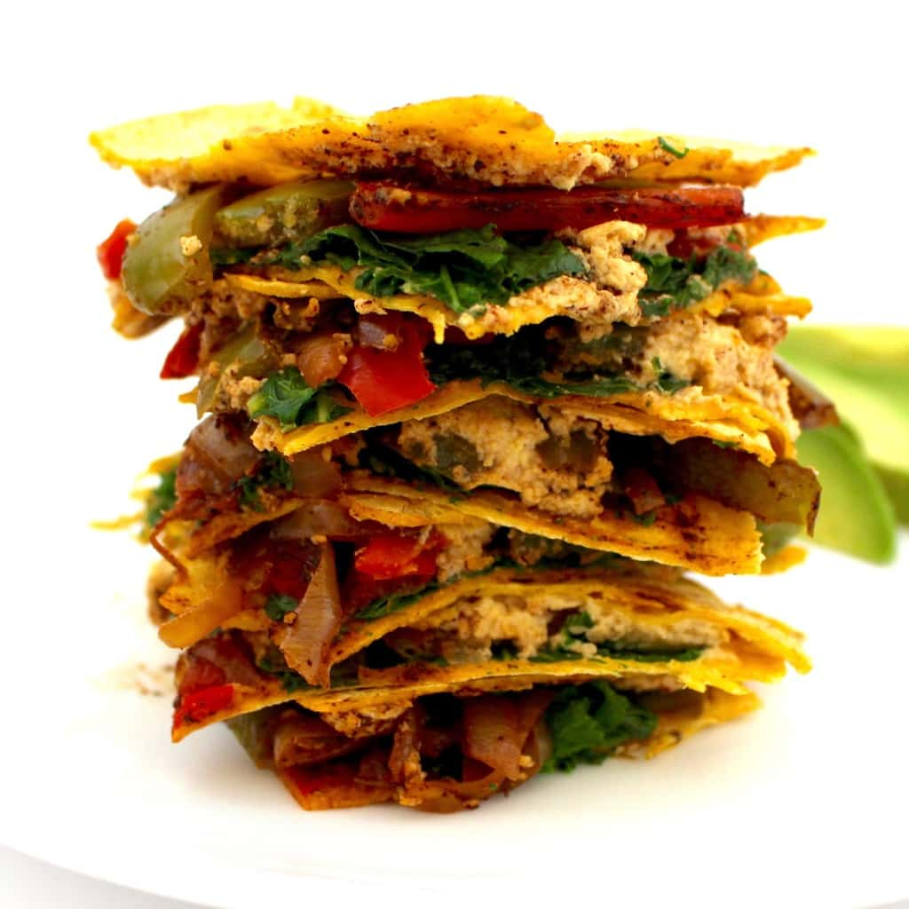The BEST Vegan Quesadillas! They're also oil-free, gluten-free and high-protein. The perfect, healthy lunch or dinner!