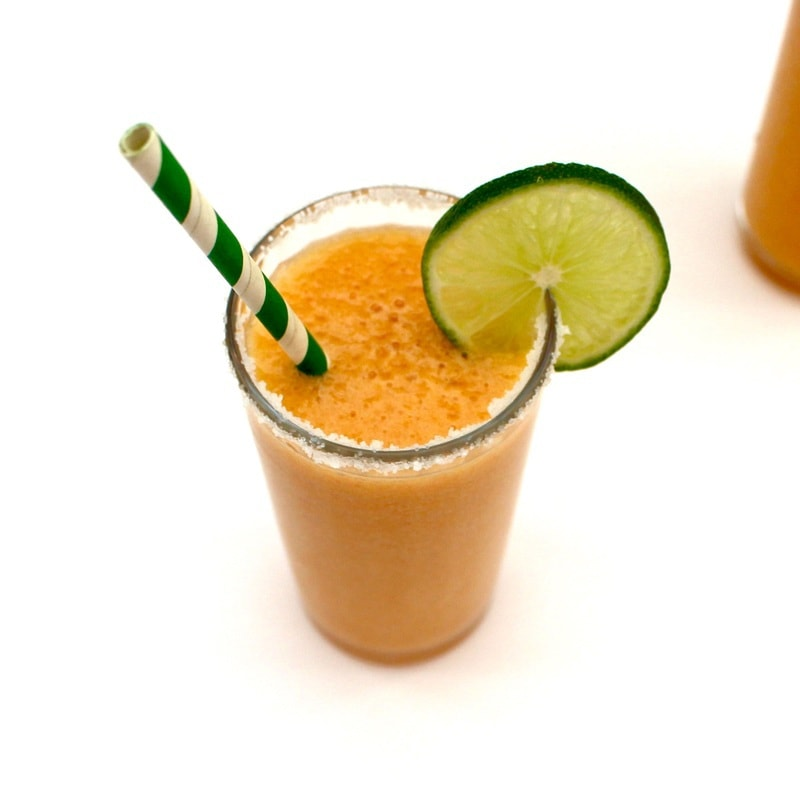 Just Peachy Skinny Margarita! Clean ingredients with no added sugar.
