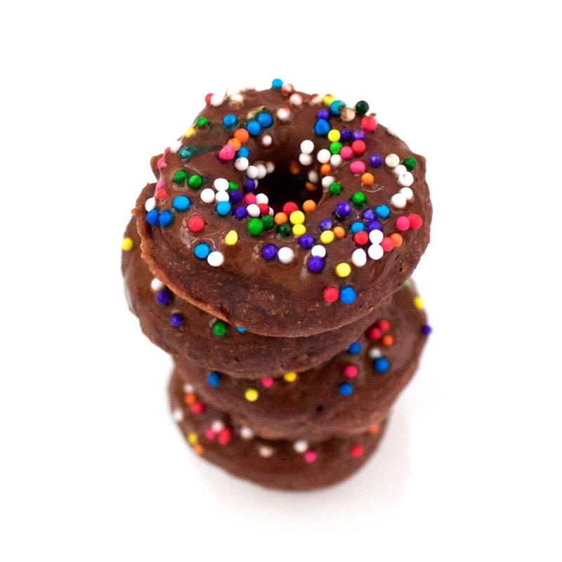 Healthy Mini Chocolate Donuts (Low-Calorie, Vegan, Sugar-Free, Low-Carb, Low-Fat!)