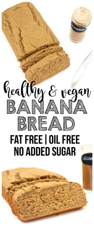Healthy Vegan Banana Bread (Fat-Free, Oil-Free, No Added Sugar)