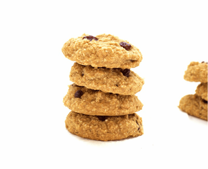 Healthy Oatmeal Raisin Cookies! Only 62 calories each! (Vegan, Oil-Free, Sugar-Free, Low-Calorie, Low-Carb & Gluten-Free Optional)