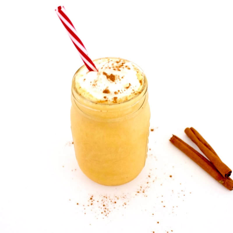 This low-calorie Vegan Pumpkin Pie Milkshake is a Fall milkshake miracle!! It is absolutely delicious and only 16 calories! It's also gluten-free, low-fat, low-carb, keto, dairy-free & sugar-free.
