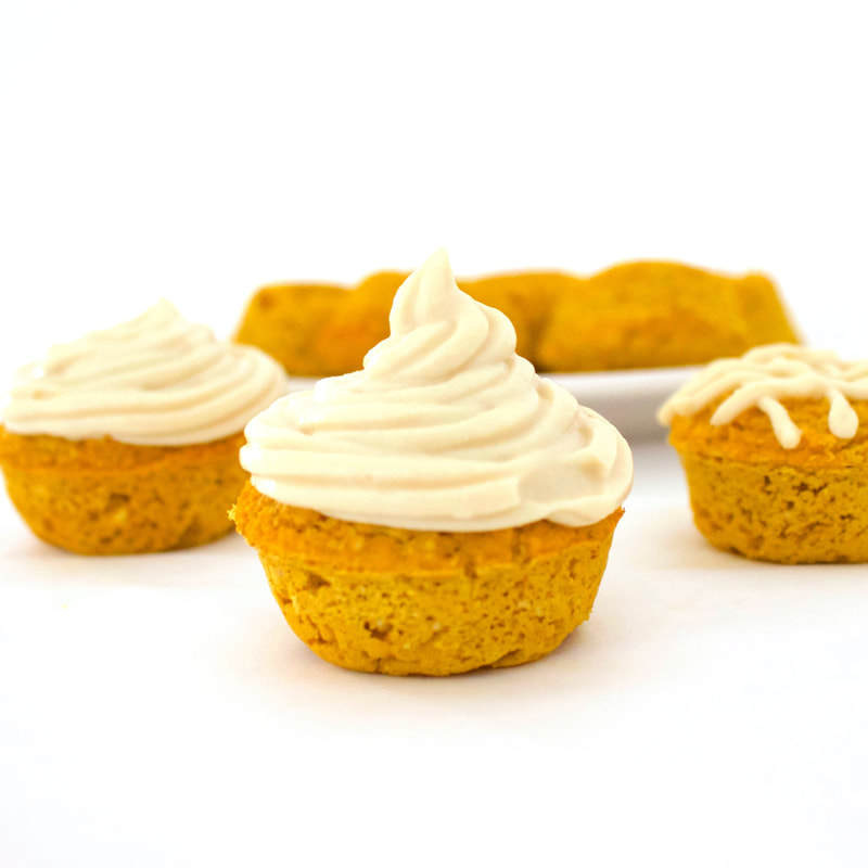 Healthy Pumpkin Spice Mini Muffins (Sugar-Free, Vegan, Low-Carb, Gluten-Free, Oil-Free)