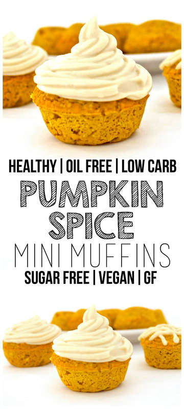 Pumpkin Spice Mini Muffins (Sugar-Free, Vegan, Low-Carb, Gluten-Free, Oil-Free)