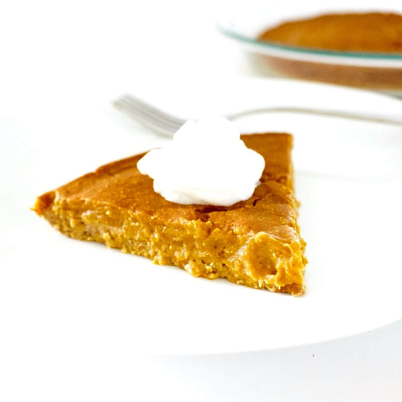 Healthy Pumpkin Pie! Only 67 calories per slice. (Low-Carb, Keto, Dairy-Free, Sugar-Free, Vegan, Gluten-Free, Oil-Free, Low-Fat)