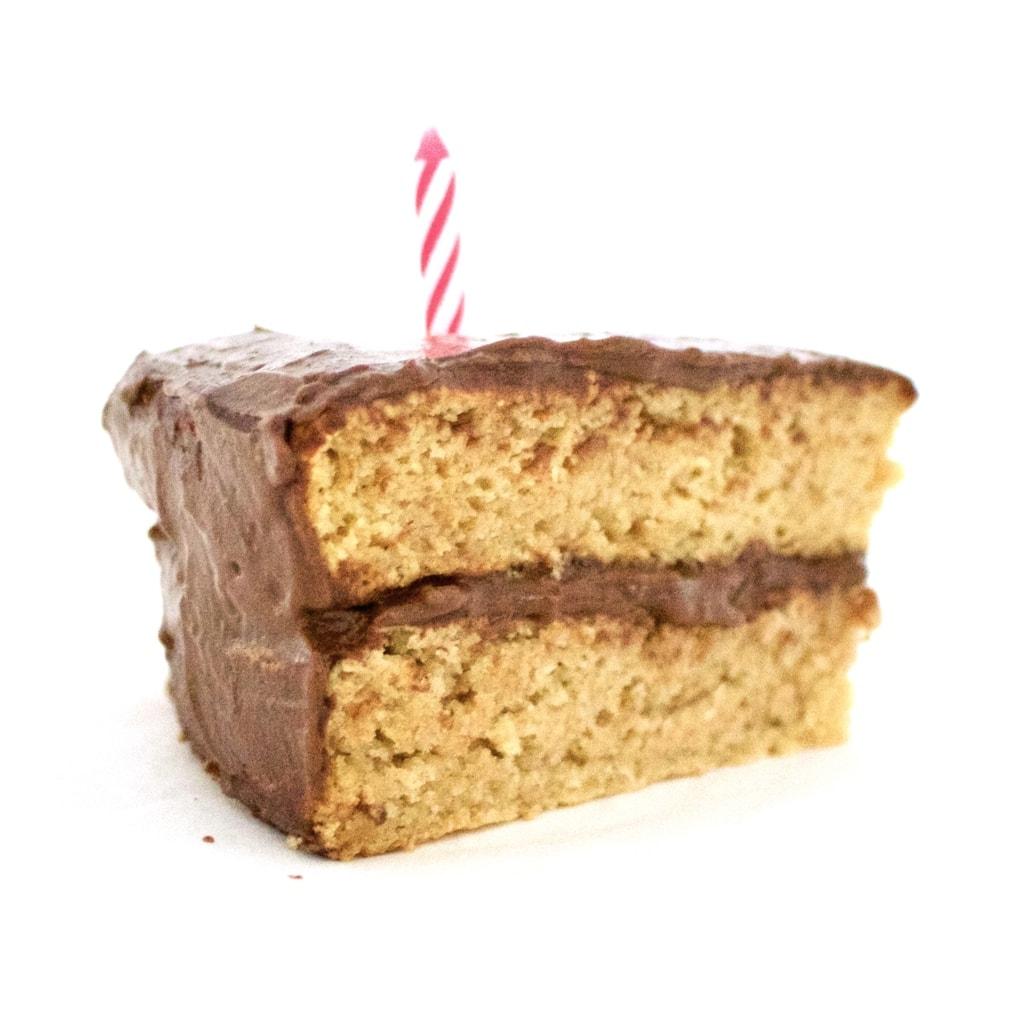 Healthy Vanilla Birthday Cake! Vegan, Gluten-Free, Low-Fat & Sugar-Free | VegAnnie.com