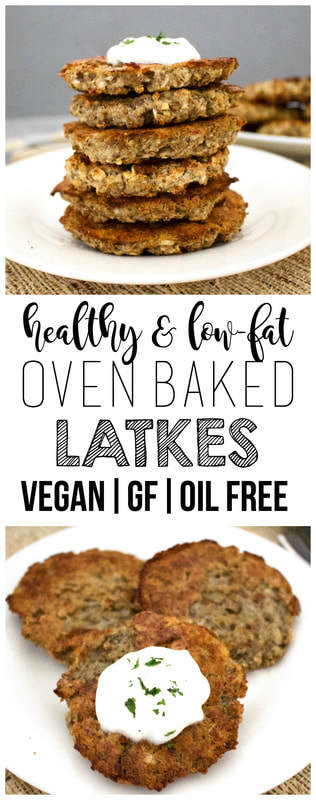 Oven-Baked Latkes (Oil-Free, Vegan, Gluten-Free, Low-Fat)
