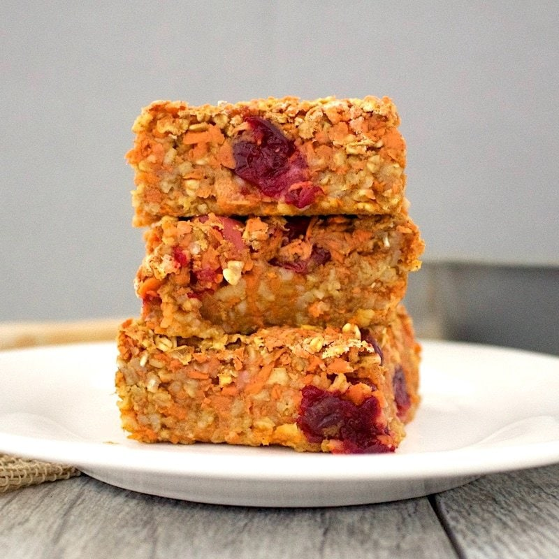 Cranberry Morning Glory Bars! (Healthy, Sugar-Free, Vegan, Gluten-Free, Oil-Free)