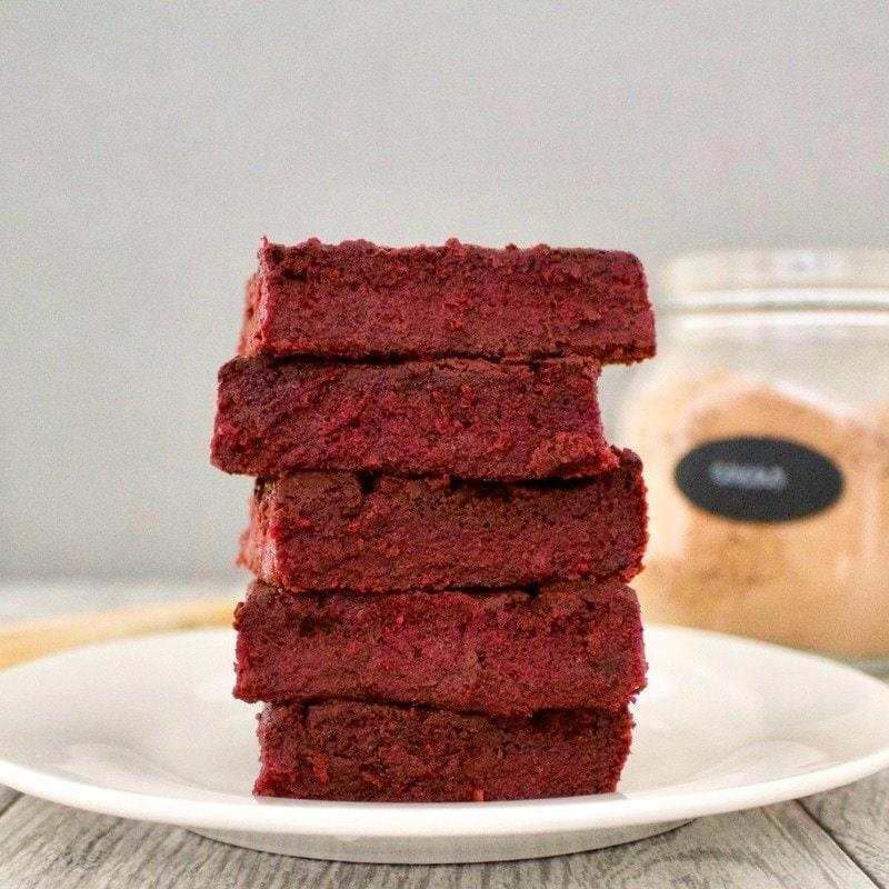 Red Velvet Brownies! (Low-Calorie, Vegan, Gluten-Free, Low-Fat, Sugar-Free)