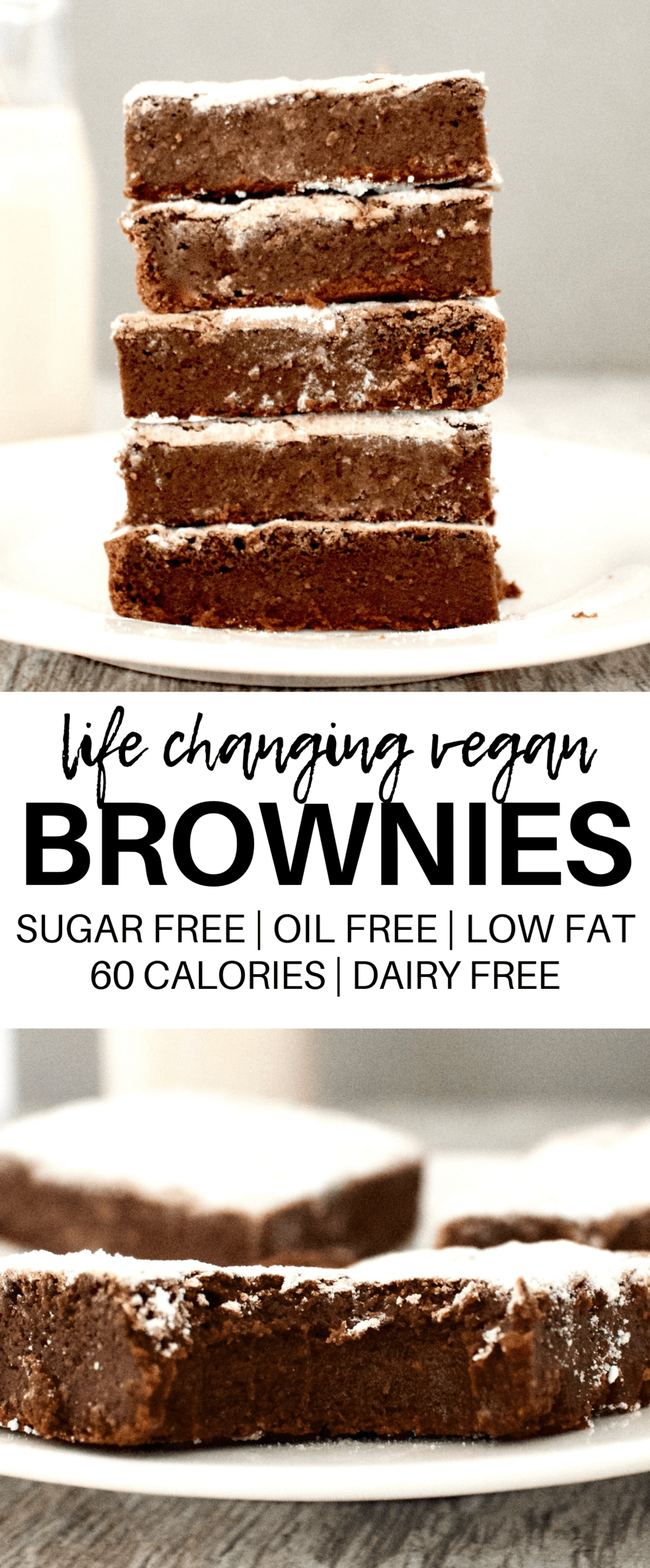 Vegan Fudge Brownies Low Calorie Gluten Free Sugar Free