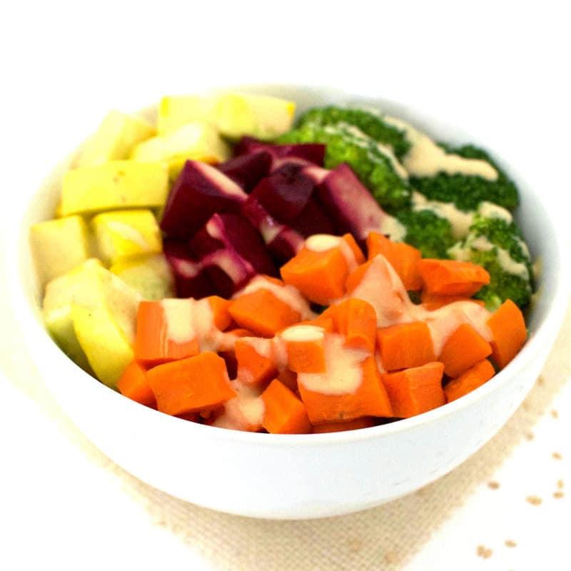 Easy Detox Veggie Bowl (Oil-Free, Vegan, Gluten-Free, Paleo)
