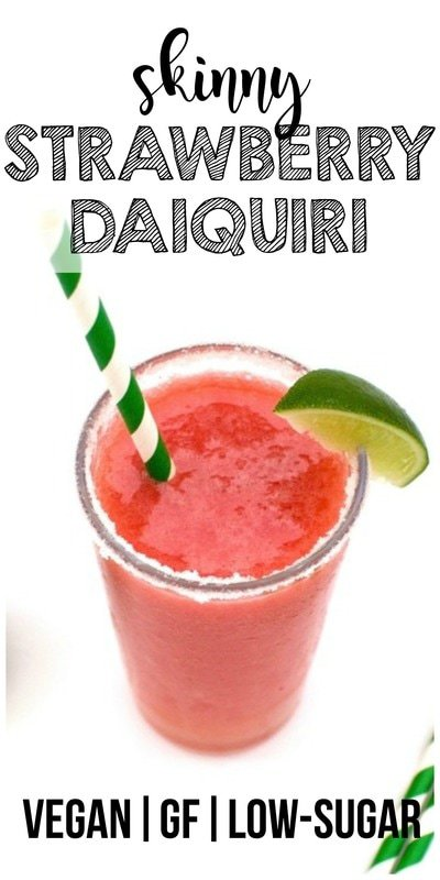 Skinny Strawberry Daiquiri! (Low-Carb, Low-Sugar, Vegan, Gluten-Free)