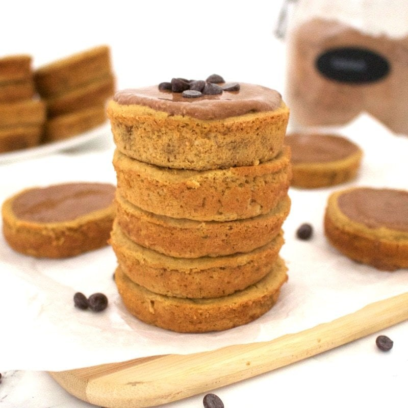 Healthy Vanilla Protein Cups! (Vegan, Gluten-Free, Low-Calorie, Oil-Free, Sugar-Free)