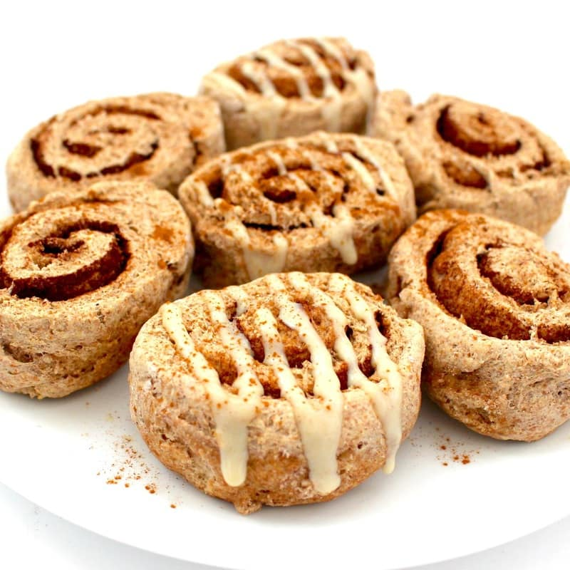 These 30-Minute Vegan Cinnamon Rolls are absolutely AMAZING! They are super healthy, low-fat, oil-free, dairy-free, sugar-free & low-calorie - only 70 calories each!
