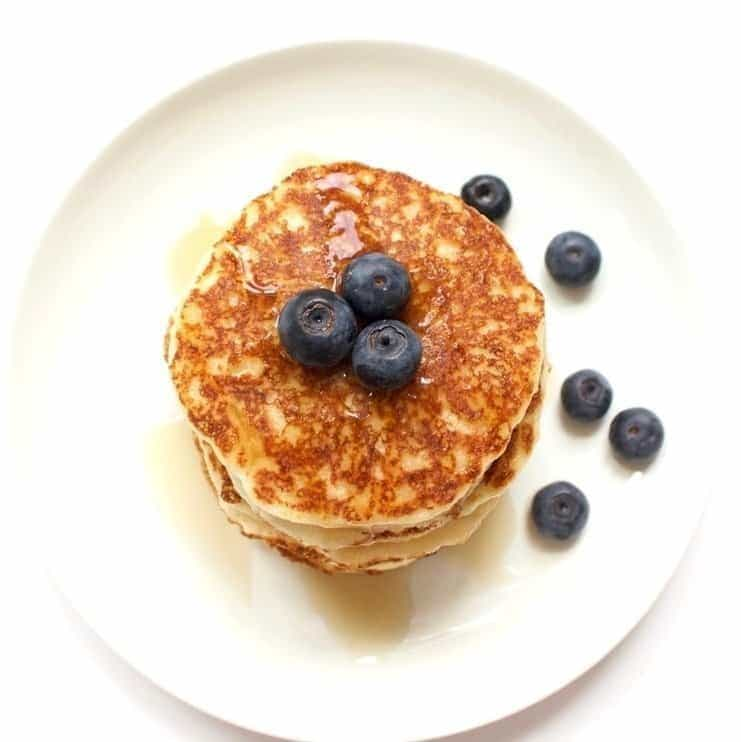 These Perfect Vegan Pancakes are absolutely AMAZING! Keto, gluten-free, sugar-free. The perfect, healthy & delicious breakfast!