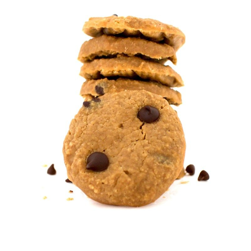 Skinny Chocolate Chip Cookies (Keto, Sugar-Free, Low-Carb, Gluten-Free, Vegan, Low-Calorie)