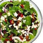 Simple Vegan Spinach Salad