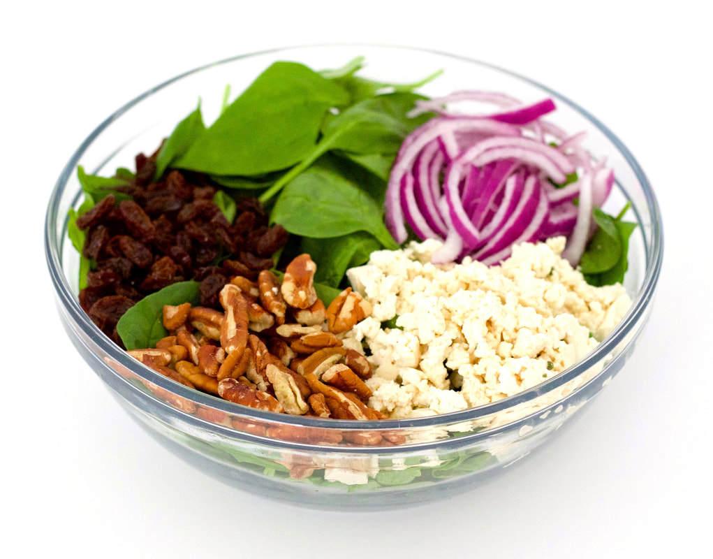 Simple Vegan Spinach Salad (Oil-Free, Gluten-Free, Sugar-Free, Clean)