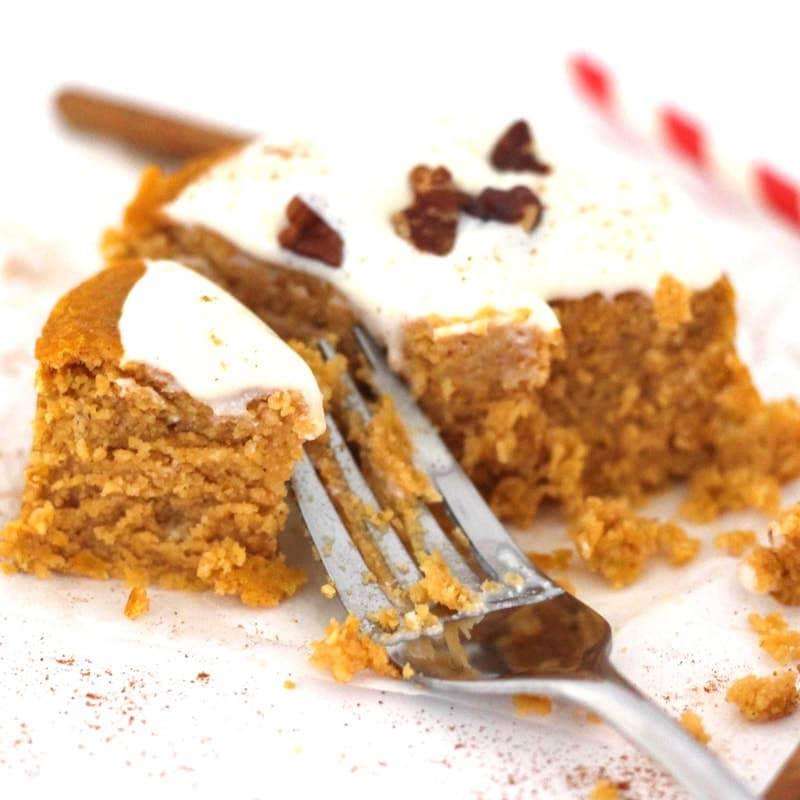 Single Serving Pumpkin Spice Cake (Low-Carb, Sugar-Free, Vegan, Gluten-Free, Oil-Free)