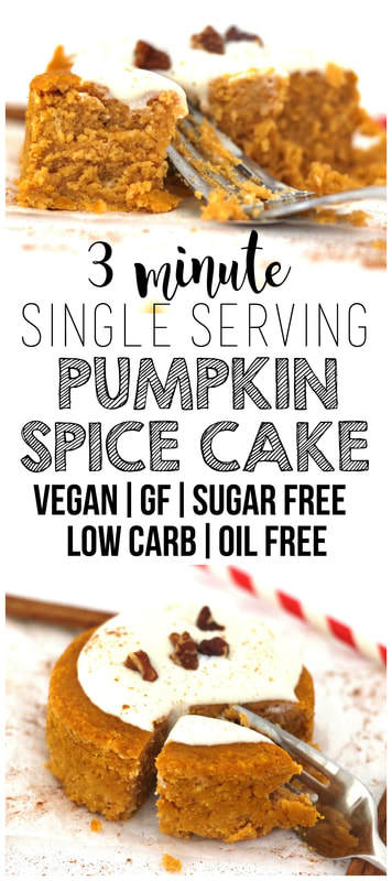 Single Serving Pumpkin Spice Cake (Low-Carb, Sugar-Free, Vegan, Gluten-Free, Oil-Free)